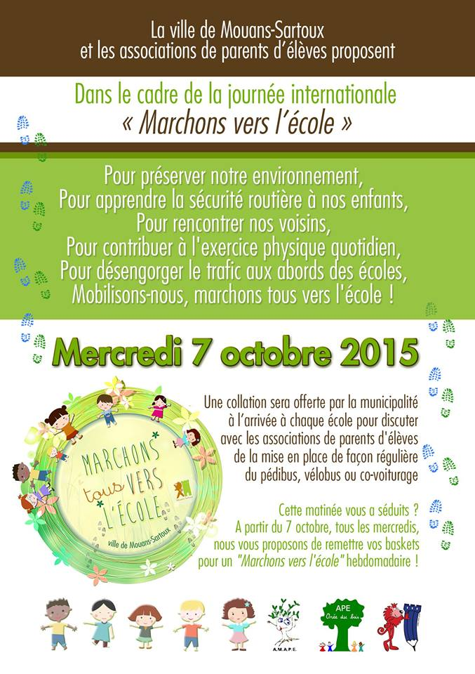 Marchons vers l'école - Mouans-Sartoux !