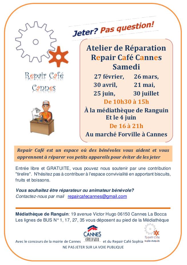 Programme RepairCafé Cannes - S1-2016
