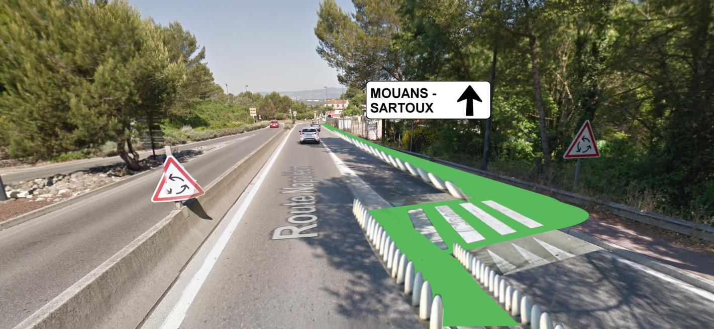 Un passage piéton-vélo sécurisé est nécessaire ici