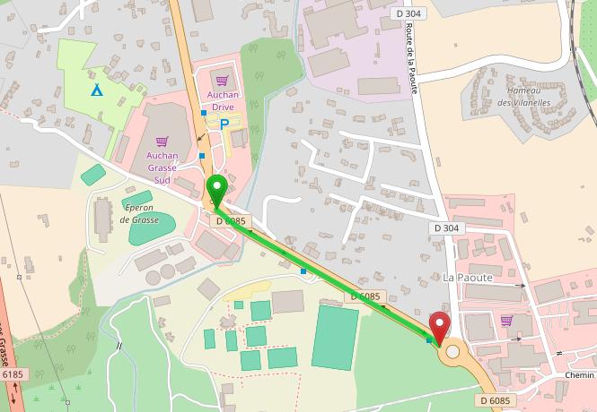 Route de Cannes : 500 mètres séparent les deux rond-points