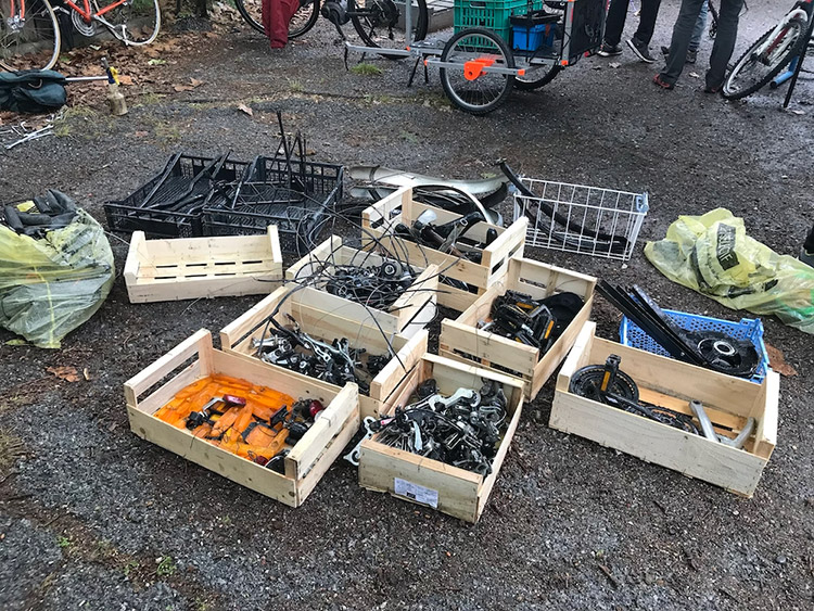 Déménagement atelier vélo Mouans-Sartoux mai 2021
